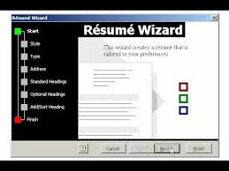 Resume Wizard Beauteous Creating A Resume Using The Wizard In Microsoft Word YouTube