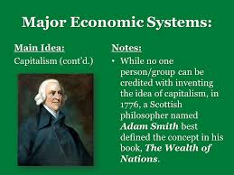 warm up what are the questions every economic system  major economic systems main idea capitalism cont d notes