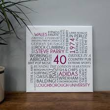 personalised word wall art canvas