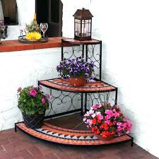 3 tiered plant stands outdoor corner plant stand 3 tier step style mosaic tiled indoor outdoor 3 tiered plant stands outdoor
