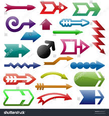 Web Design Arrows Shiny Arrows Set3 Web Design Stock Vector Royalty Free