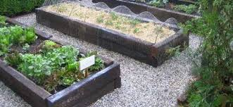 garden design with sleepers. raised beds with railway sleepers garden design