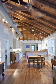 exposed ceiling lighting. Exposed Ceiling Lighting Kitchen Traditional With Wood Beams Floor Duct