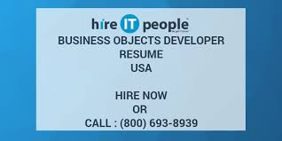 Business Objects Resume Business Objects Developer Resume Hire IT People We get IT done 21