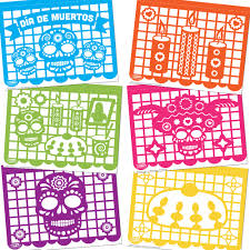 Papel Picado Designs For Day Of The Dead Papel Picado Printable Download
