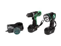 hitachi drill set. hitachi power tools ds18dvf3 18 volt cordless driver drill kit with flashlight and bit set