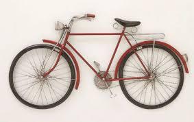 metal bicycle with basket wall decor