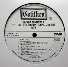 中古】Soul LP ▽ Myrna Summers & The Interdenominational Singers Now [ US ORIG  '72 Cotillion SD 060 0398 ] PROMO , MONO の落札情報詳細| ヤフオク落札価格情報 オークフリー・スマートフォン版