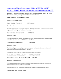 Urgent Care Nurse Practitioner Sample Resume Critical Care Nurse Practitioner Sample Resume Shalomhouseus 19