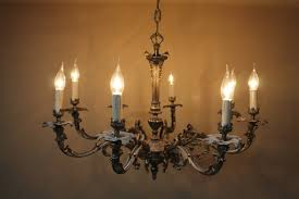 old french chandelier heavy chrome 8 branch ceiling light
