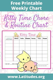 chore and routine chart kitty time acn latitudes kitty time weekly routine chart