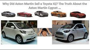 Why Did Aston Martin Sell A Toyota Iq The Truth About The Aston Martin Cygnet Youtube