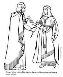 Queen Ester Bible Coloring Page To Print 017 Esther Bible Study