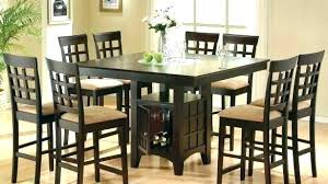 black dining table 8 chairs seater dark wood and glass set modern for wooden tables seat