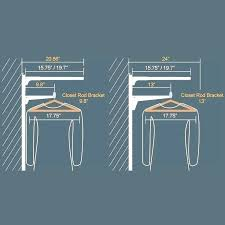 double closet rod height closet rod height for double hanging closet rod height standard image result double closet rod height