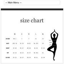 Lululemon Australia Size Chart Lululemon Yoga Pants Size Guide Sport1stfuture Org