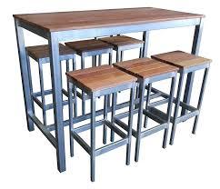 high bar table outdoor beer garden outdoor furniture set 7 piece bar high wide outdoor high high bar table outdoor