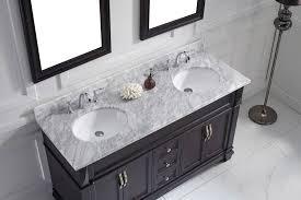 virtu usa 60 victoria double sink vanities round sink bathroom vanity set in espresso with
