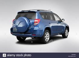 2009 Toyota RAV4 Limited in Blue - Rear angle view Stock Photo ...