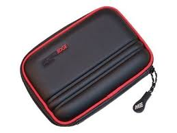 Mobile Edge Portable Hard Drive Case, Black with Red Trim (MEHDC17)