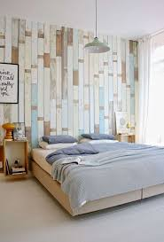 bedroom elegant scandinavian bedroom decor with antique wood wall and grey fabric blanket also brown