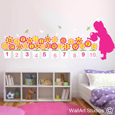 alphabet mary quite contrary educational wall decal