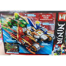 Lego Ninjago 4 Mẫu Siêu Xe, Máy Bay, Ô tô cao cấp 70PCS hàng loại 1 MG112
