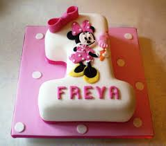 Baby Minnie Mouse 1st Birthday Cake Abc Birthday Cakes