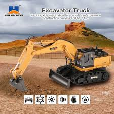 Huina <b>rc</b> excav 1510 Excavator <b>Car</b> 2.4G <b>11CH</b> Metal Remote ...