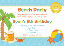 beach birthday party invitation pool party beach party beach party birthday invitation pool party by thebutterflypress