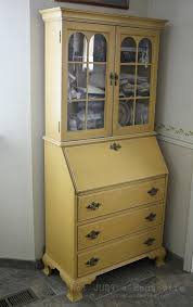 i just bought a secretary s desk considering painting it yellow maybe leaving