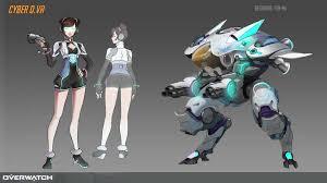 Dva Concept Design Yen Mi Overwatch Cyber D Va Design Concept