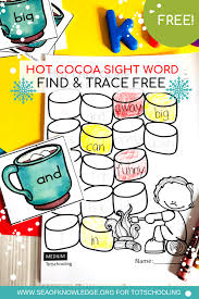 Winter Free Sight Word Worksheets - Sight Word Reading and Writing ...