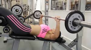 How To Do Barbell Bench Press  Decline Overhand Wide Grip Decline Barbell Bench
