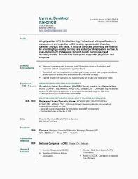 Nurse Assistant Resume Unique Certified Nursing Assistant Resume Awesome Free Sample Certified