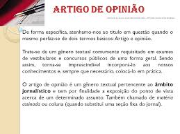 Artigo de opinio - Brasil Escola
