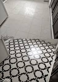 painting vinyl kitchen floors luxury diy painted vinyl floors turn gross dated sheet vinyl into durable