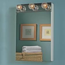 Medicine Cabinet With Light Beautiful Medicine Cabinet With Lights 3 Mirror Door Wood Frame