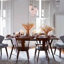 wonderful danish modern dining room chairs with mid century expandable dining table west elm
