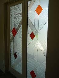 elegant etched glass pantry door sans