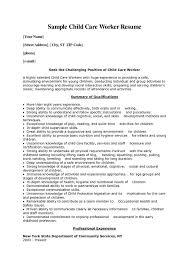 Child Care Provider Resume Extraordinary Resume Sample For Child Care Provider Free Professional Resume