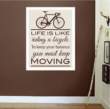 Bicycle Quote Decal Quotes Wall Decal Murals Primedecals Extraordinary Wall Decals Quotes