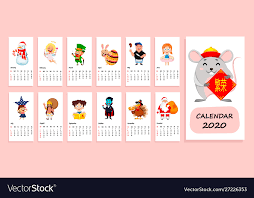 November 2020 Calendar Clip Art 2020 Calendar With Funny Cartoon Characters