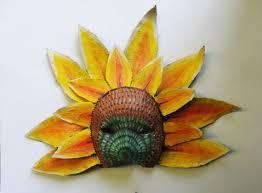 Flower Paper Mache Sunflower Mask Sunflower Flower Paper Mache Wearable Etsy