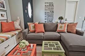 living room ideas brown sectional. Sumptuous Blue And Coral Bedding Mode Other Metro Contemporary Living Room Decorating Ideas With Beige Rug Black Accent Wall Brown Sectional Sofa T