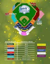 Spirit Communications Park Seating Chart Columbia Fireflies Seating Chart