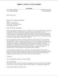 Proper Format Of A Cover Letter Cover Letters Business Letter Format