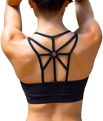 YIANNA Sports Bras for Women Cross Back Padded Sports Bra Medium Support  Workout Running Yoga Bra at Amazon Women's Clothing store