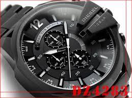 1more rakuten global market diesel chronograph men watch black diesel chronograph men watch black x white dial ip black stainless steel belt dz4283