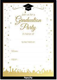 Graduation Party Invitation Template 2019 Graduation Party Invitations With Envelopes 30 Pack Grad Celebration Announcement Cards For High School Or College